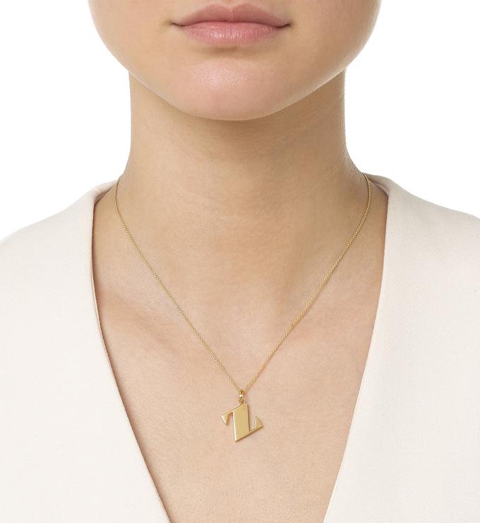 Gold Vermeil Alphabet Pendant Z Model