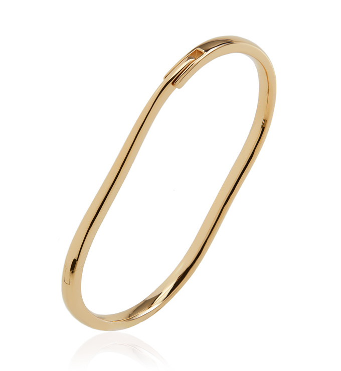Gold Vermeil Alta Capture Charm Bangle - Monica Vinader