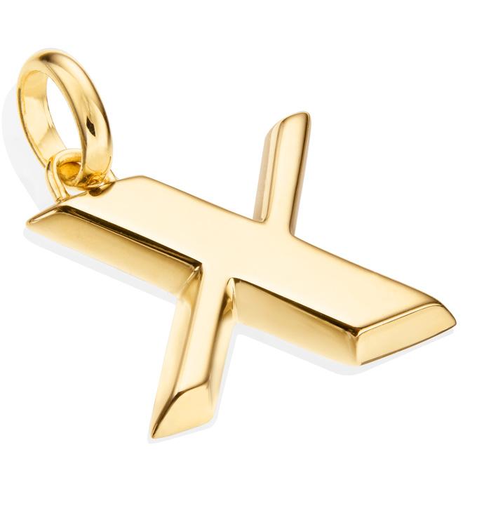 Gold Vermeil Alphabet Pendant X 2