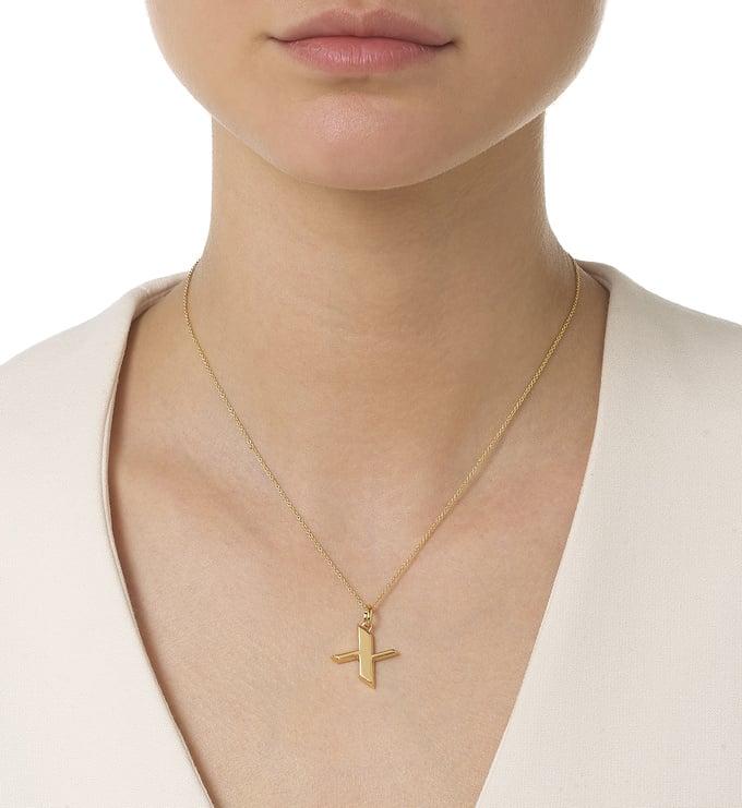 Gold Vermeil Alphabet Pendant X Model