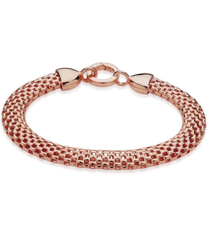 Rose Gold Vermeil Doina Wide Chain Bracelet - Monica Vinader