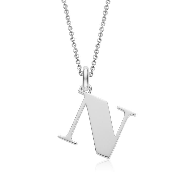 Alphabet Pendant N Chain