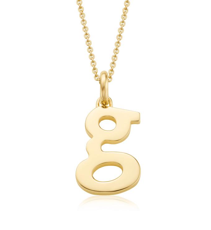 Gold Vermeil Alphabet Pendant G Chain