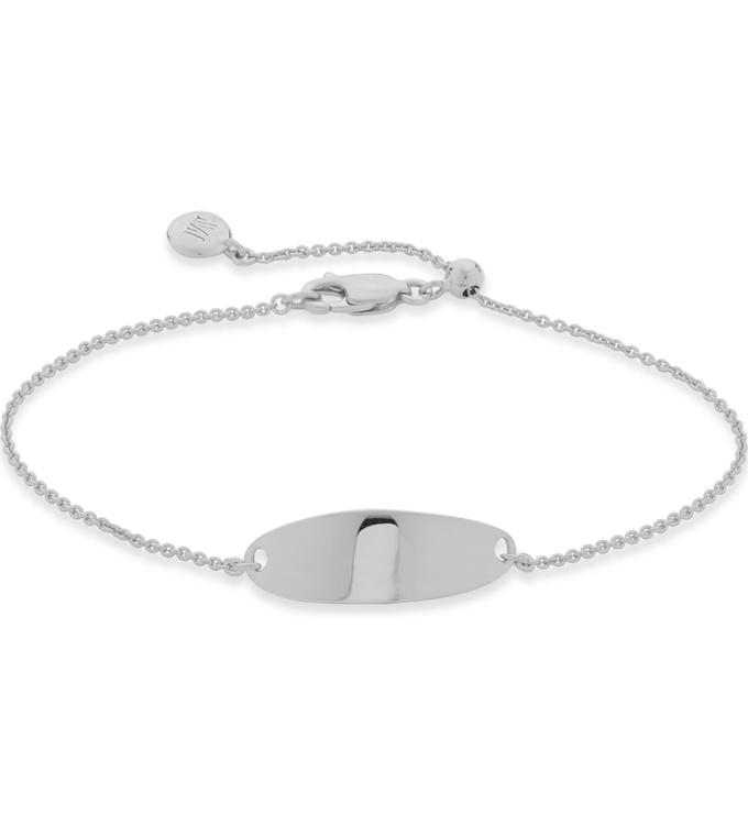 Sterling Silver Nura Tiny Fine Chain Bracelet -  - Monica Vinader