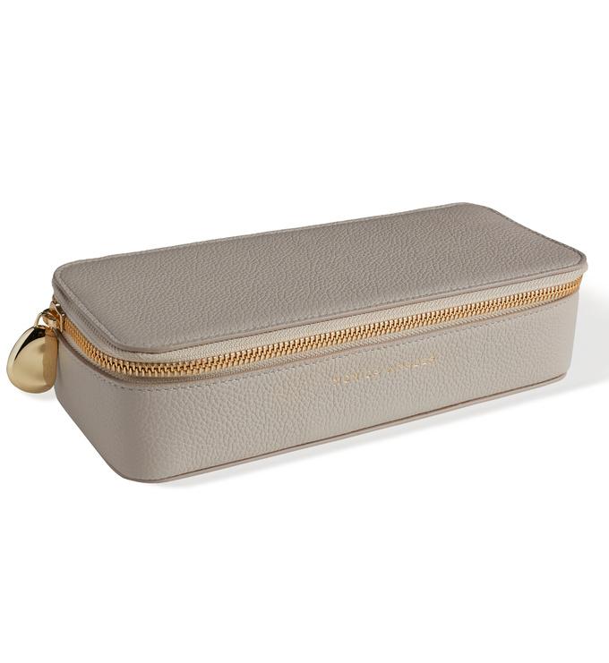 Leather Large Leather Trinket Box - Pebble Grey - Monica Vinader