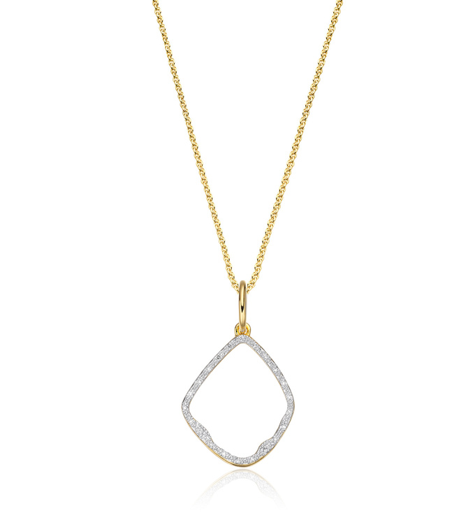 Riva Diamond Pendant Charm Necklace Set - Monica Vinader