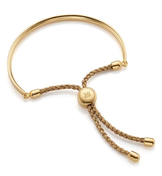 Gold Vermeil Fiji Friendship Bracelet - Gold Metallica - Monica Vinader