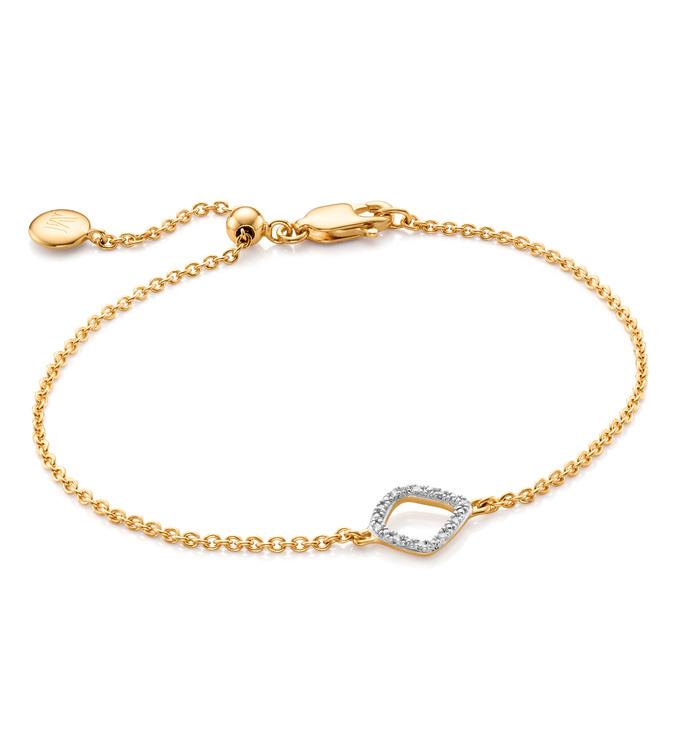 Gold Vermeil Riva Mini Kite Bracelet - Diamond - Monica Vinader