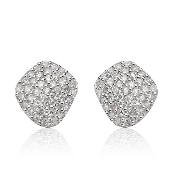 Rose Gold Vermeil Nura Nugget Stud Diamond Earrings - Diamond - Monica Vinader