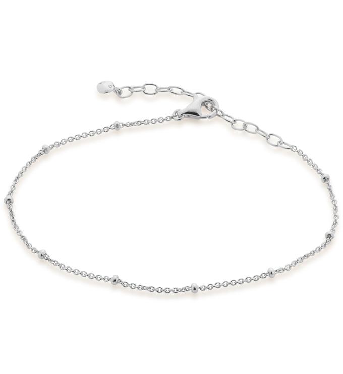 Sterling Silver Fine Beaded Chain Bracelet - Monica Vinader