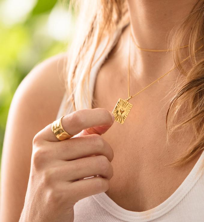 Gold Vermeil Talisman Heart Pendant - Monica Vinader
