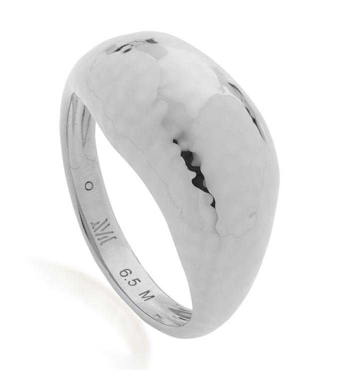 Sterling Silver Deia Domed Ring - Monica Vinader