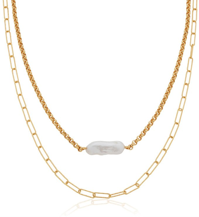 Alta Chain and Pearl Necklace Set - Monica Vinader