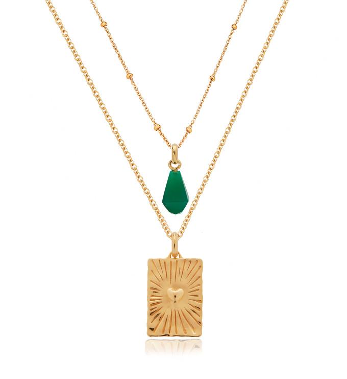 Talisman and Gemstone Necklace Set  - Monica Vinader