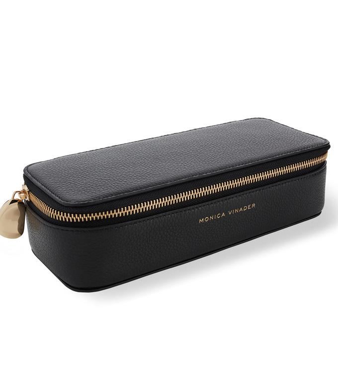 Leather Large Leather Trinket Box - Black - Monica Vinader