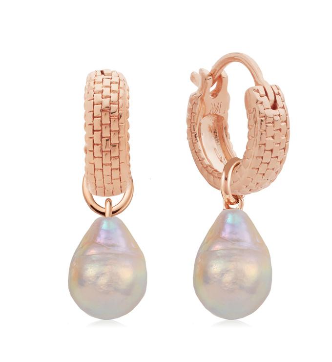 Doina Pearl and Huggie Earrings Set - Monica Vinader