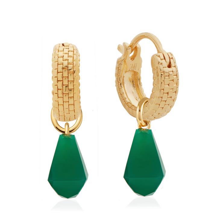 Doina Gemstone Huggie Earrings Set - Monica Vinader