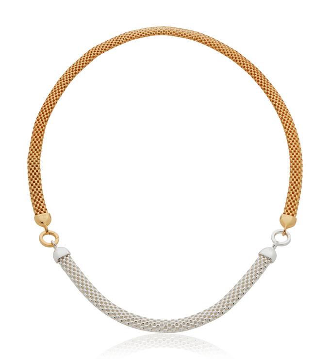 Mixed Metal Bracelet and Necklace Set - Monica Vinader