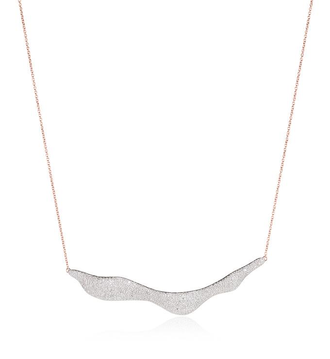 Rose Gold Vermeil Riva Wave Necklace