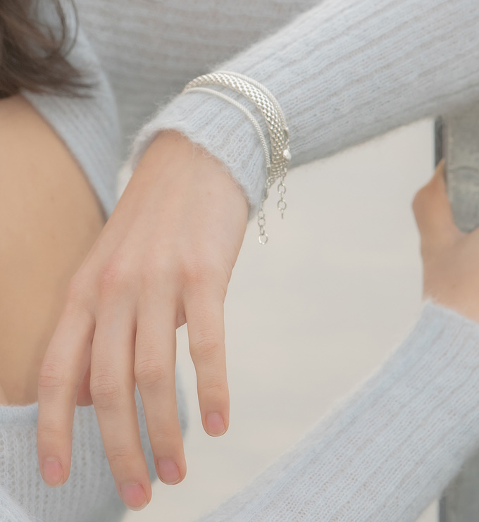 Sterling Silver Doina Wide Chain Bracelet - Monica Vinader