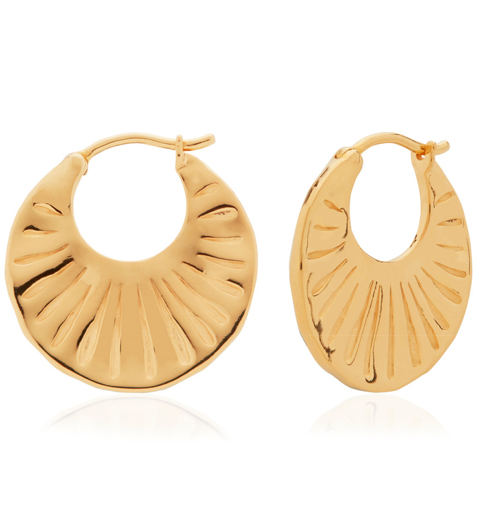 Gold Vermeil Talisman Hoop Earrings - Monica Vinader
