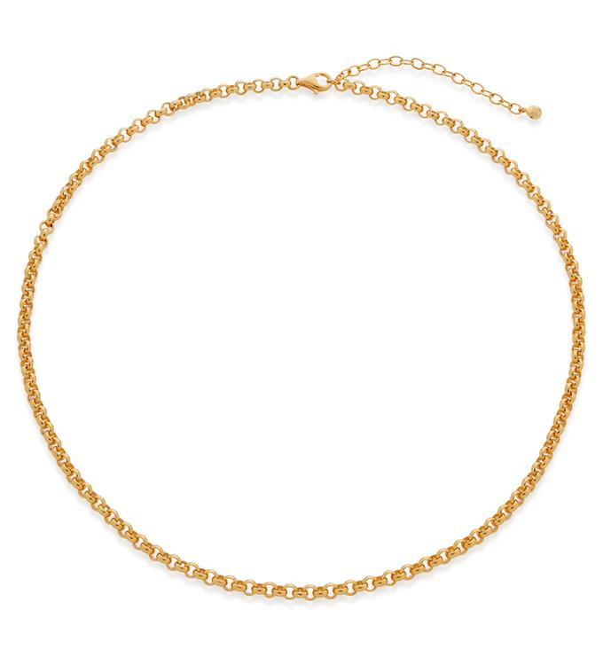 Gold Vermeil Vintage Choker Necklace 15-17