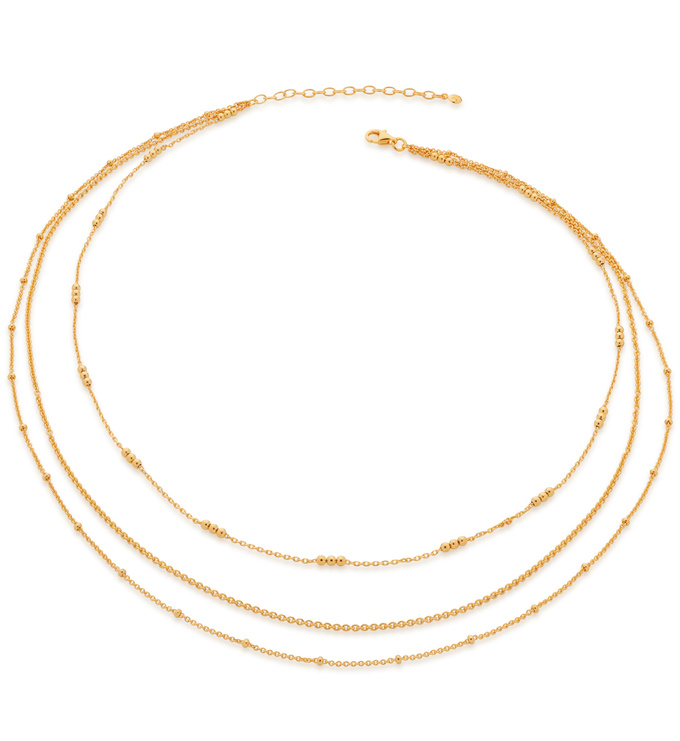 Gold Vermeil Layered Chain Necklace - Monica Vinader