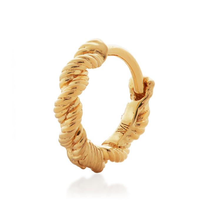 Gold Vermeil Corda Single Huggie Earring - Monica Vinader