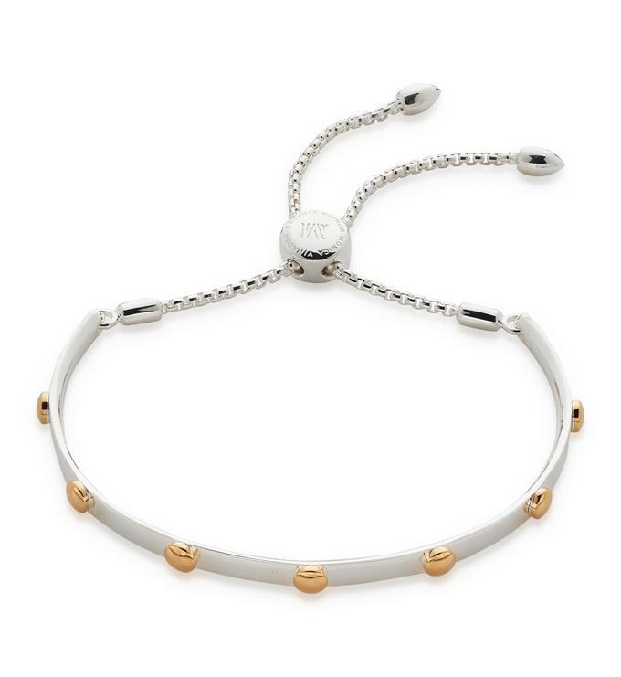 Sterling Silver Fiji Stud Bracelet  - Monica Vinader