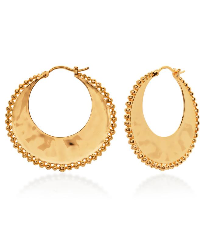 Gold Vermeil Deia Beaded Hoop Earrings - Monica Vinader
