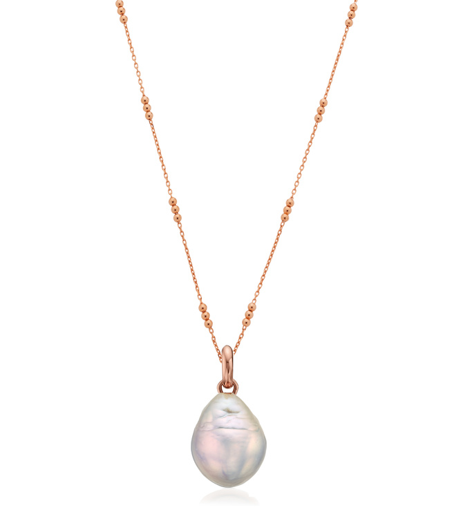 Nura Pearl Triple Beaded Necklace Set - Monica Vinader
