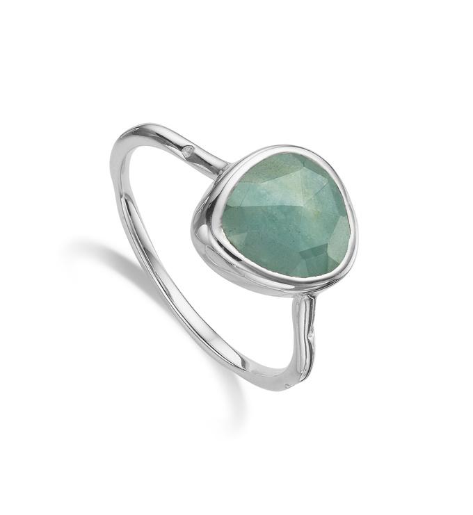 Siren Stacking Ring - Aquamarine