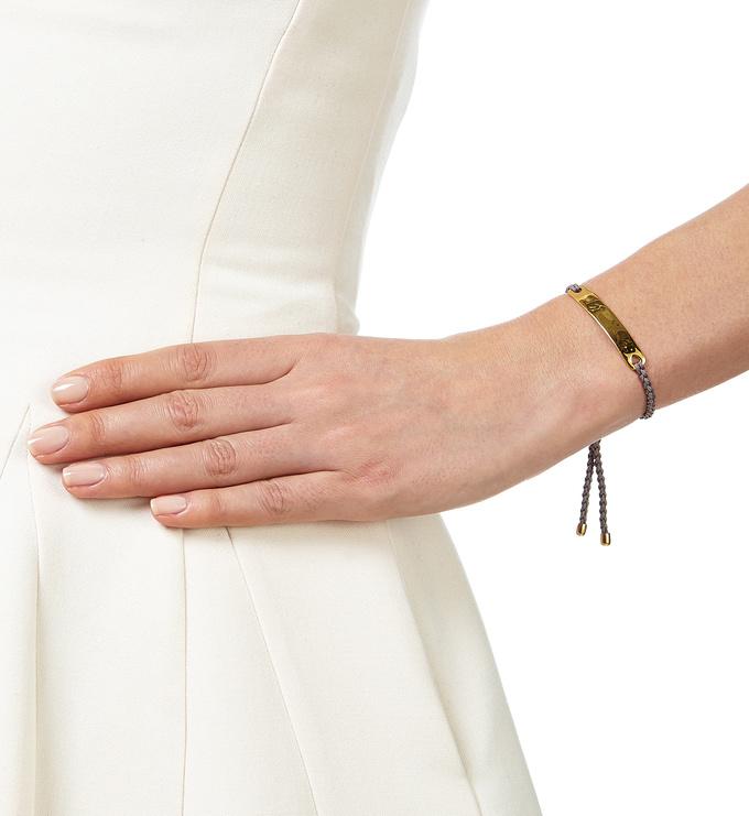 Gold Vermeil Havana Friendship Bracelet - Mink
