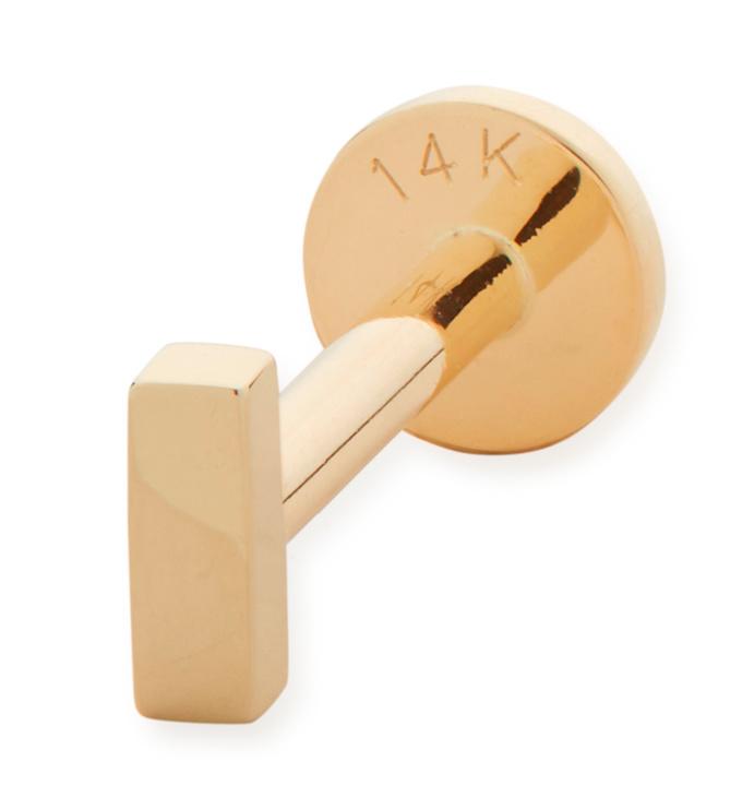 Gold Linear Bar Single Labret Earring - Monica Vinader