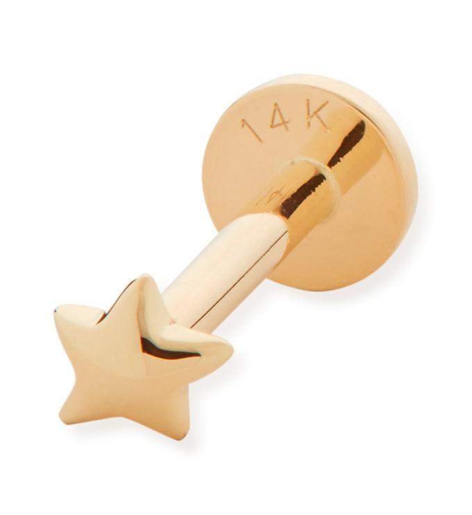 Gold Star Single Labret Earring - Monica Vinader