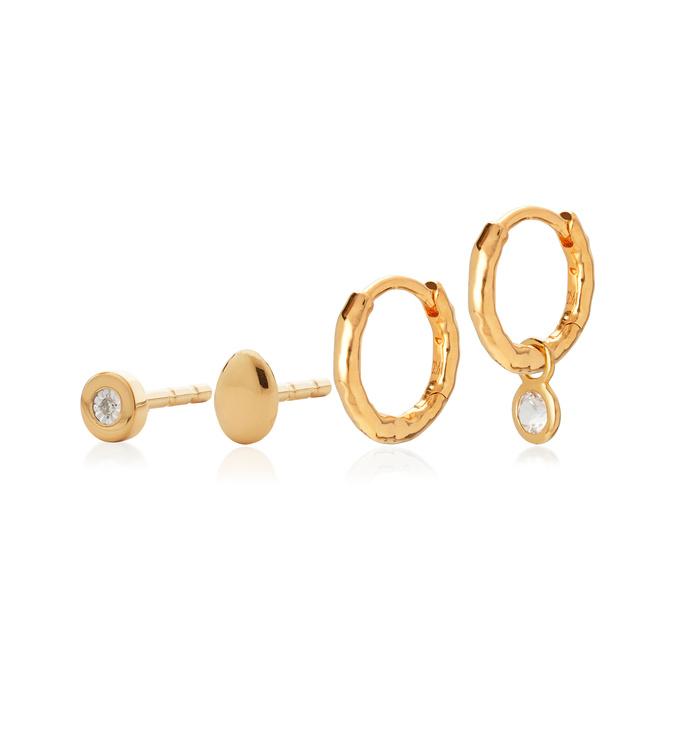 Linear Diamond Earring Set - Monica Vinader