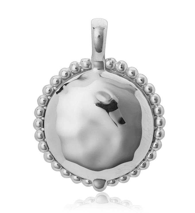 Sterling Silver Deia Locket Pendant - Monica Vinader