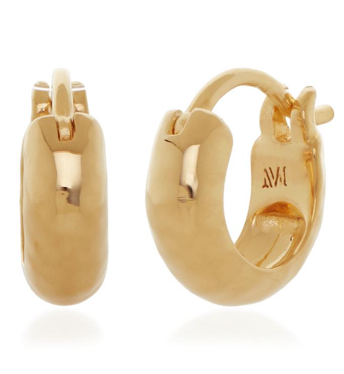 Gold Vermeil Siren Huggie Earrings - Monica Vinader