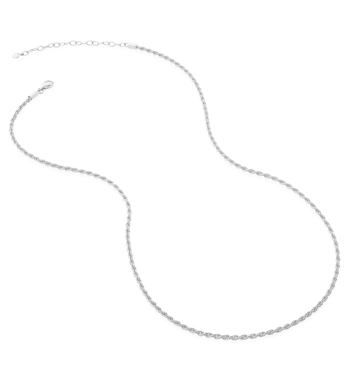 Sterling Silver Rope Chain Necklace  - Monica Vinader