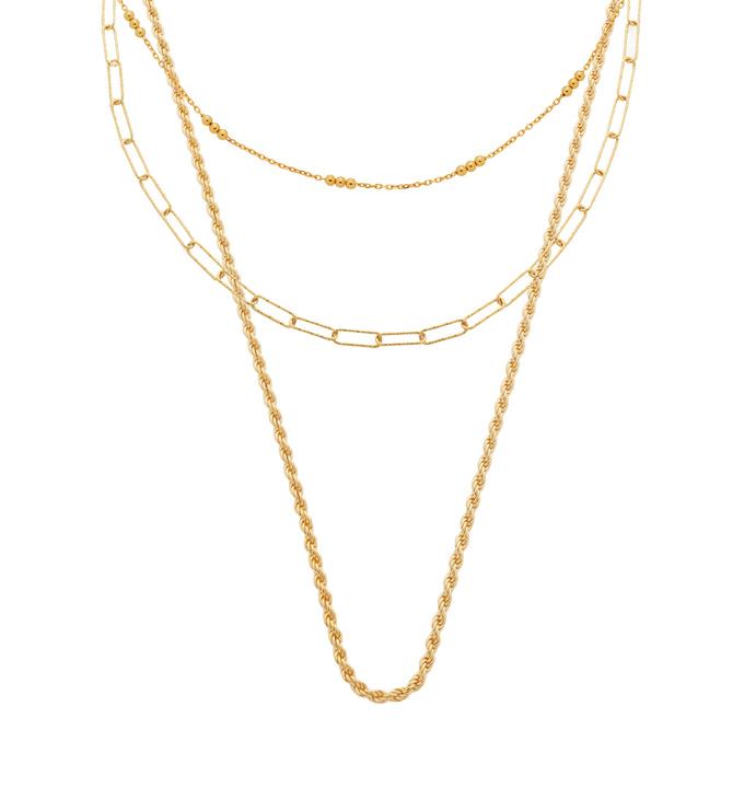 Triple Beaded Necklace Set - Monica Vinader