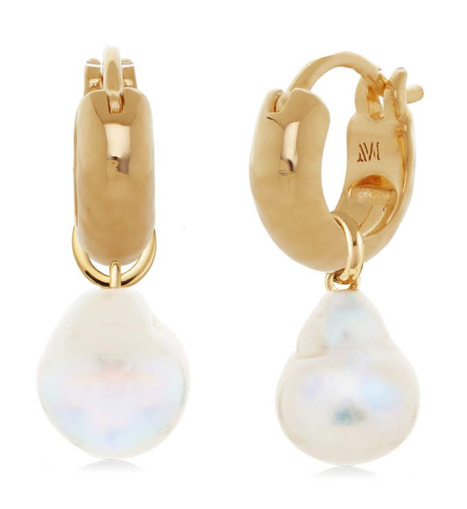Siren Huggie and Pearl Earring Set - Monica Vinader