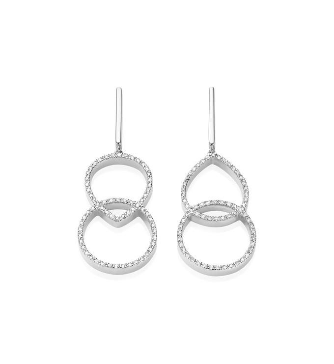 Naida Kiss Open Cocktail Earrings - Diamond