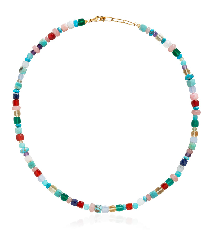Gold Vermeil Amulet Freedom Necklace - Freedom Stones - Monica Vinader