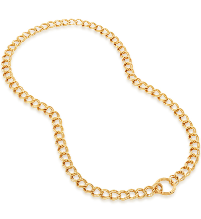 Gold Vermeil Groove Curb Chain Necklace - Monica Vinader