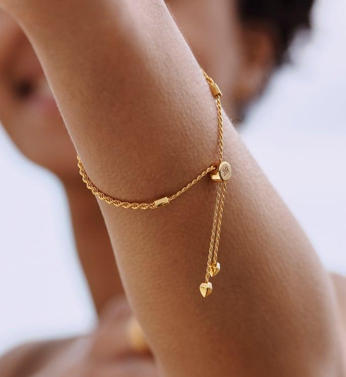Gold Vermeil Corda Fine Chain Friendship Bracelet  - Monica Vinader