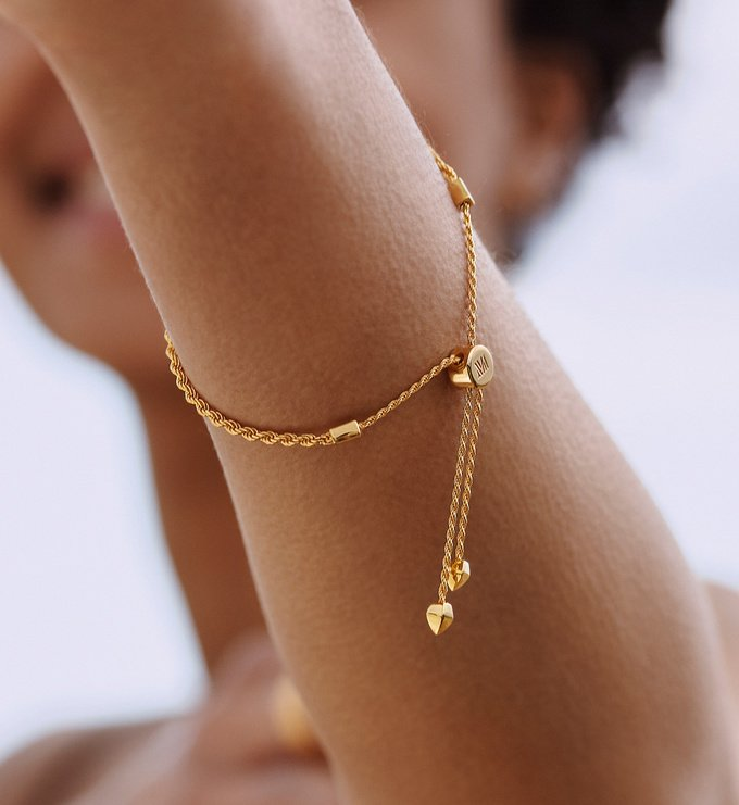 Sterling Silver Corda Fine Chain Friendship Bracelet  - Monica Vinader
