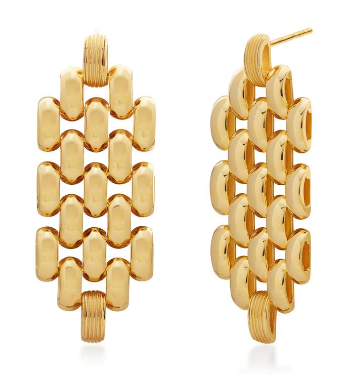 Gold Vermeil Doina Chain Cocktail Earrings - Monica Vinader