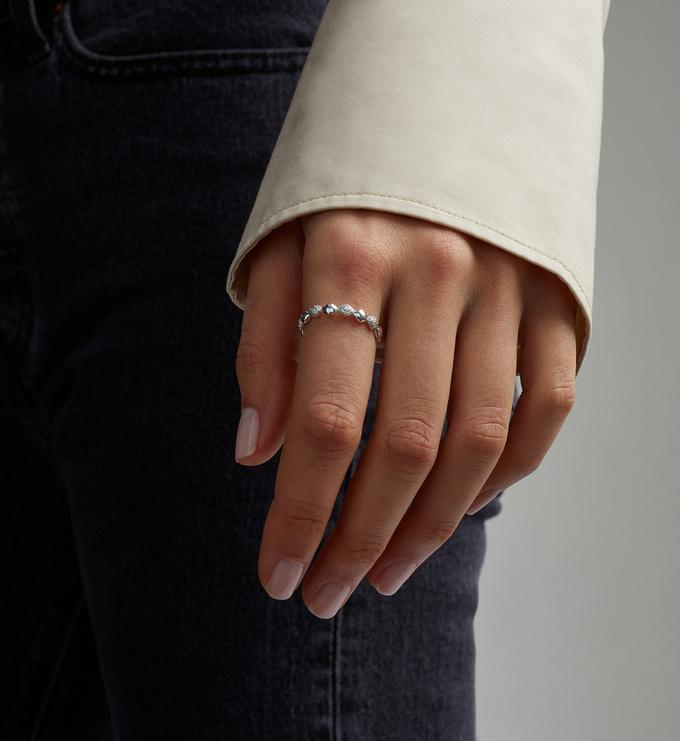 Gold Vermeil Nura Teardrop Mixed Eternity Diamond Ring - Diamond - Monica Vinader