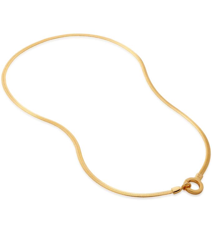 Gold Vermeil Doina Snake Chain Necklace  -  - Monica Vinader