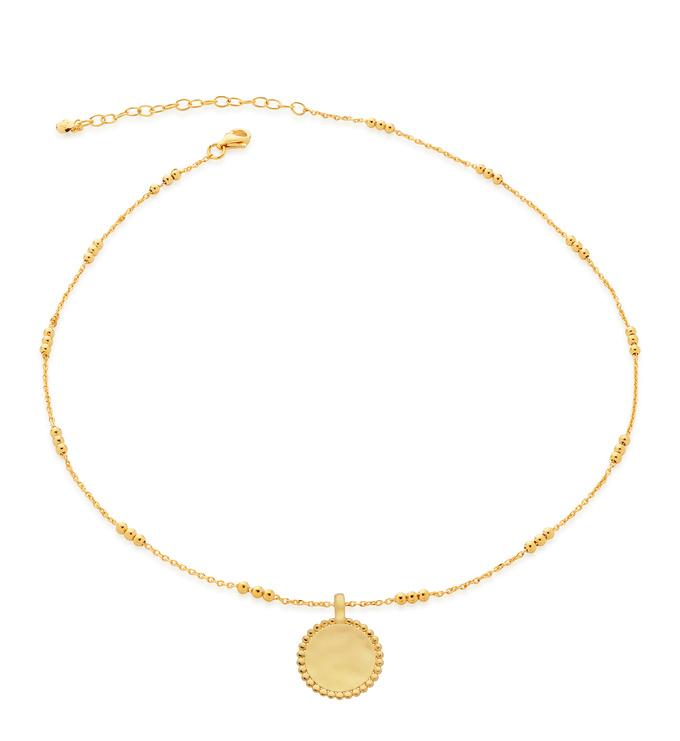 Gold Vermeil Deia Beaded Pendant and Triple Beaded Choker Set - Monica Vinader